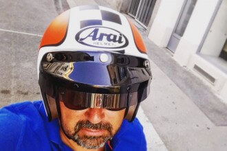 Arai Freeway 2 Helmet Christoph Cecerle eaglepowder.com Social Media Agentur Wien