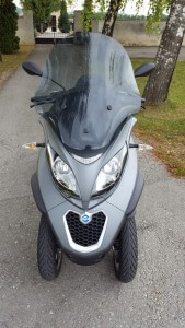 Rene Billiani testet Piaggio MP3 500ie Sport mipiace.at
