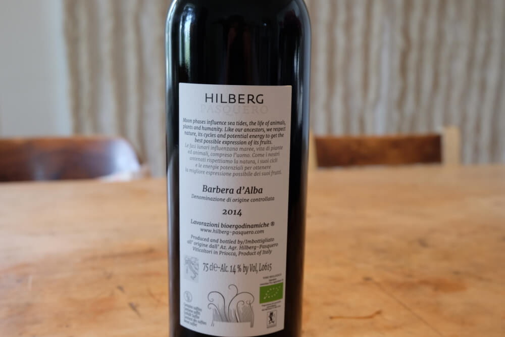 hilberg pasquero barbera d'alba 2014 by eaglepowder