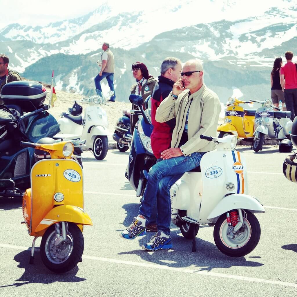 Vespa alp days die echte herausforderung for Designhotel zell am see living max
