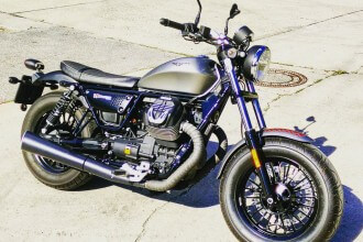 ÖAMTC Fahrtechnik Moto Guzzi V9 Bobber by eaglepowder.com for mipiace.at